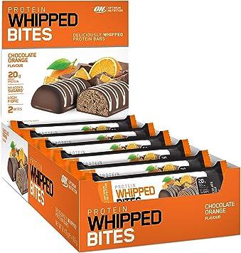 Optimum Nutrition Proteína Batida Chocolate Naranja Proteína 12 Barras 910 g