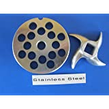 Smokehouse Chef 12 x 3/8 inch SET Meat Grinder grinding plate And knife