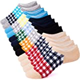 IDEGG Women's and Men's No Show Socks 6 Pairs Low Cut Anti-Slid Athletic Casual Cotton Socks