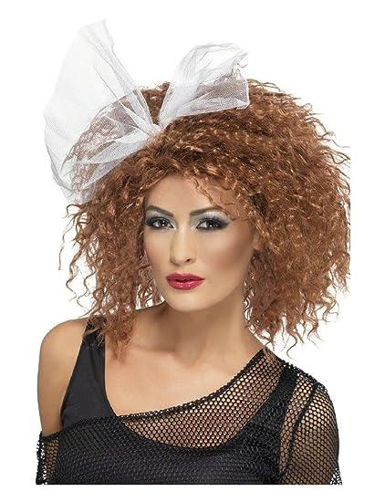Peluca años 80 Salvaje niño mujer 1980s disco Madonna disfraz peluca cobre rizos