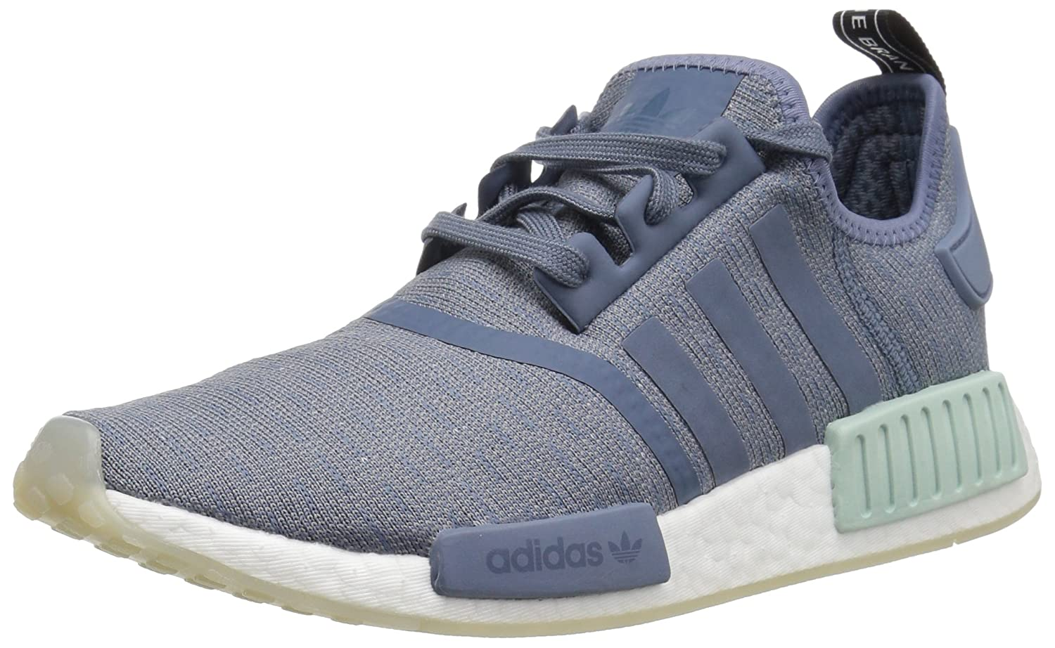 adidas Originals Women's NMD_r1 B07CCHBKY8 9.5 M US|Raw Steel/Raw Steel/White