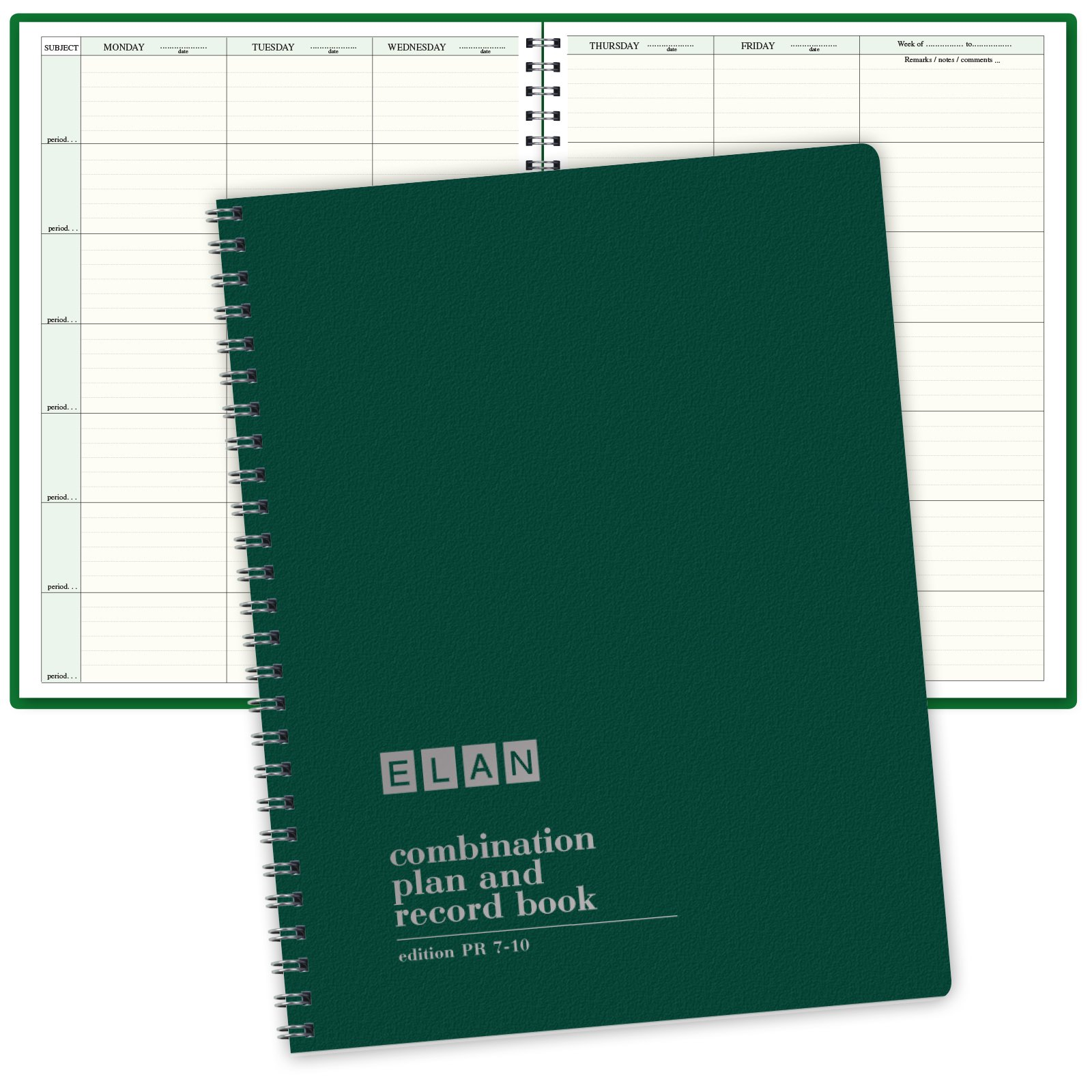 Combination Plan and Record Book: One efficient 8-1/2'' x 11'' book for lesson plans and grades combines W101 and R1010 (PR7-10)