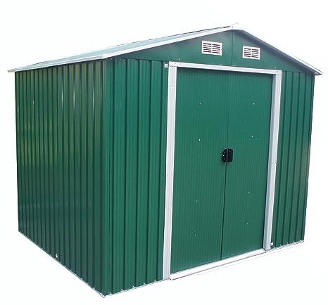 Metal FoxHunter caseta de jardín al aire libre de almacenamiento dry 304,8 cm X