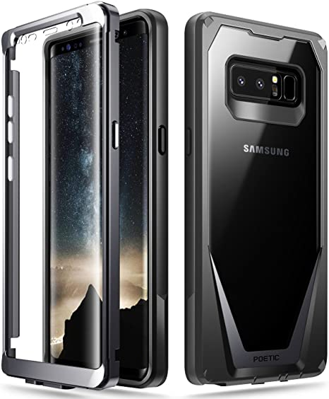 premium selection 43650 e5a68 Poetic Galaxy Note 8 Case, Guardian [Scratch Resistant Back] [360 Degree  Protection] Full-Body Rugged Clear Hybrid Bumper Case with Built-in-Screen  ...