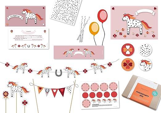 Invitación, decoración & Parte Ideas para los Caballos Niños Cumpleaños reiterhof Pony (10 Niños