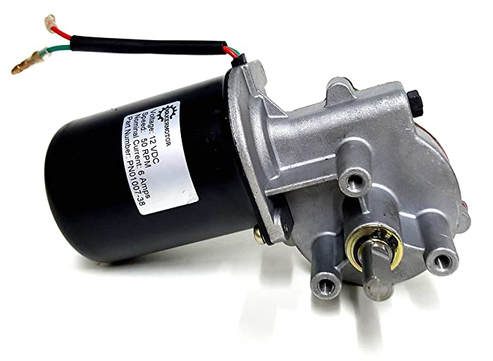 "Makermotor 3/8"" D Shaft 12V DC Reversible Electric Gear Motor 50 RPM"