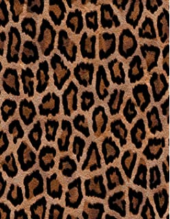 Leopard print gifts gift presents leopard skin fur ruled leopard print notebook 85 x 11 202 college ruled pages thecheapjerseys Gallery