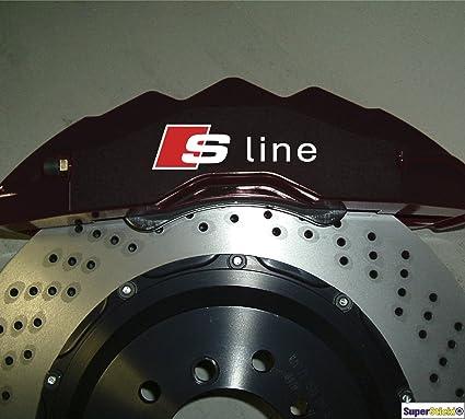 4 X S Line Bremsen Aufkleber Hitzefest Bremsenaufkleber Sticker Decal Für Bremsen Aus Hochleistungsfolie Aufkleber Autoaufkleber Tuningaufkleber