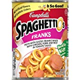 Campbell's SpaghettiOs Canned Pasta, With Franks, 15.6 Ounce (Pack of 12)