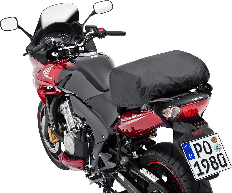 Qbag Hecktasche Motorrad Motorradtasche Hecktasche 05 Motorradgepäck Für Soziussitz Gepäckträger 14 20 Liter Stauraum Leichtes Be Entladen Inkl Regenhaube Schwarz Auto