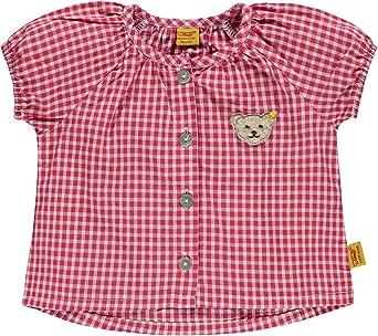 Steiff Sudadera Corazón niñas blusa, Rosa Blanco de cuadros 6712323: Amazon.es: Ropa y accesorios