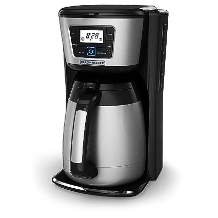 Amazoncom Blackdecker 12 Cup Thermal Coffeemaker Blacksilver