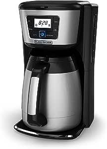 BLACK+DECKER 12-Cup Coffeemaker Thermal Carafe, Black Black