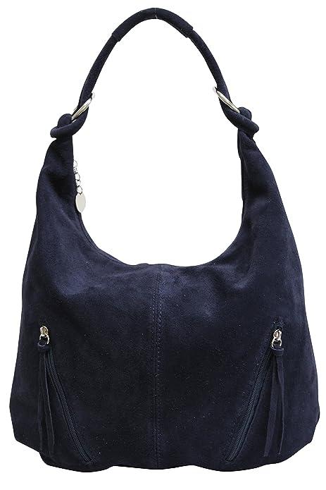 a2e4d01aa24 AMBRA Moda La bolsa de asas de cuero de las mujeres Bolso de gamuza Bolso de