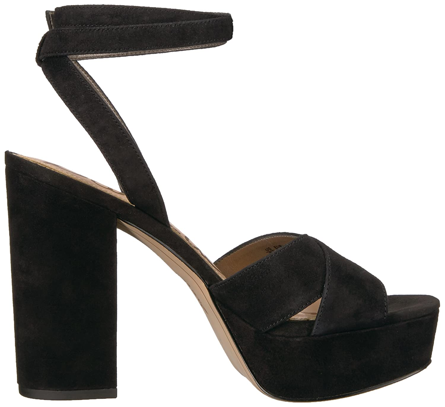 Sam Edelman Women's Mara Heeled Sandal 9.5 B01NCL8EDE 9.5 Sandal Medium US|Black Suede d94561