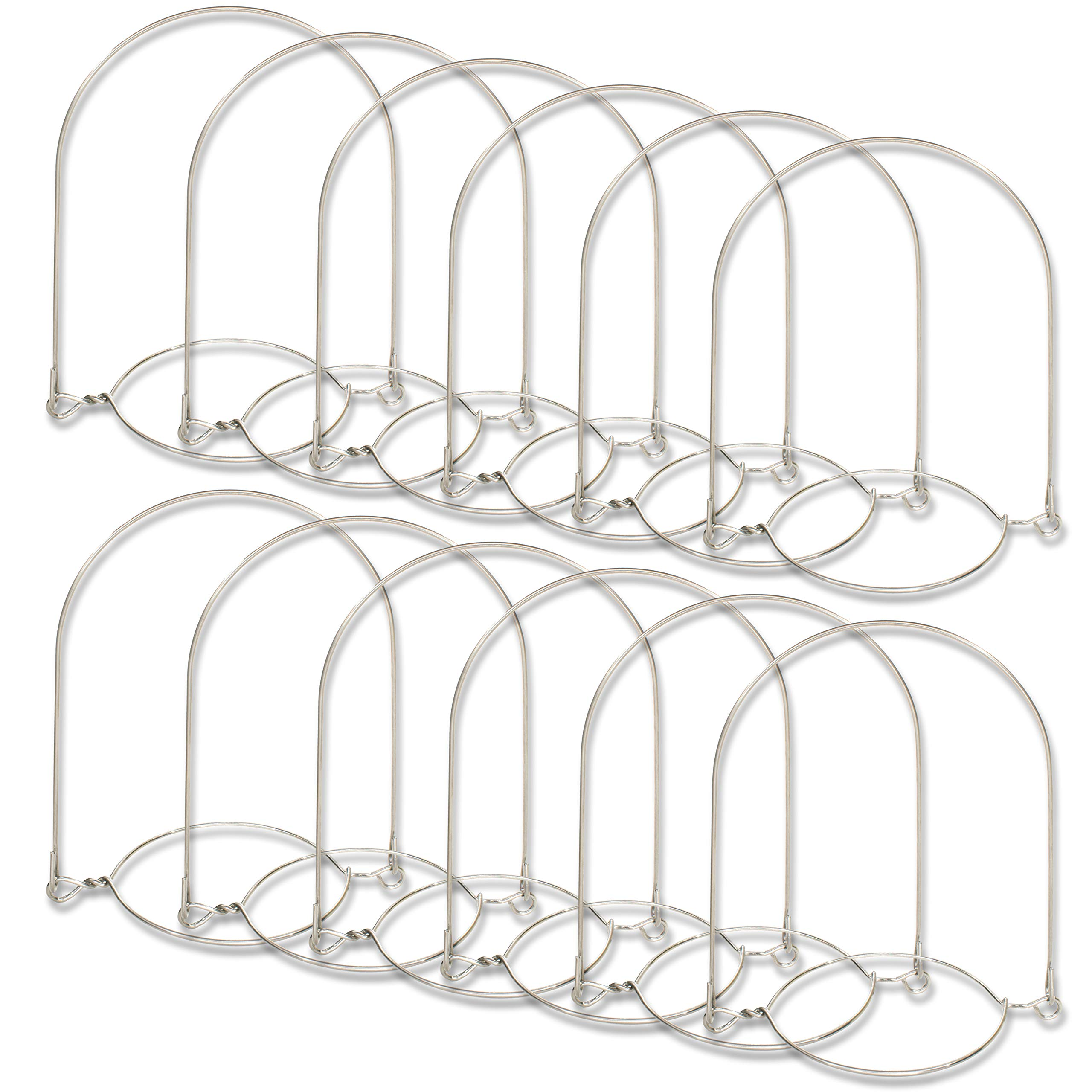 Sunshine Mason Co. Stainless Steel Wire Mason Jar Handle Hanger fits Regular Mouth, 12 Pieces