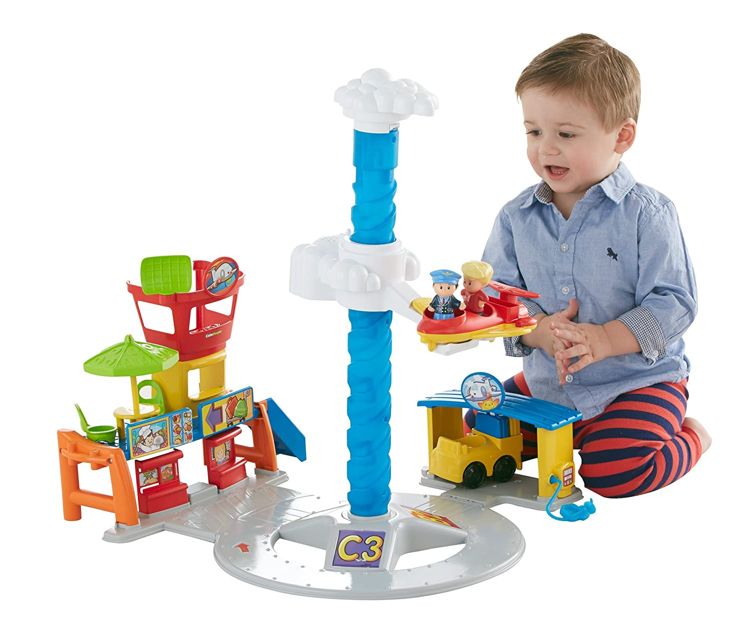Fisher-Price Little People Spinnin' Sounds Airport by Fisher-Price
