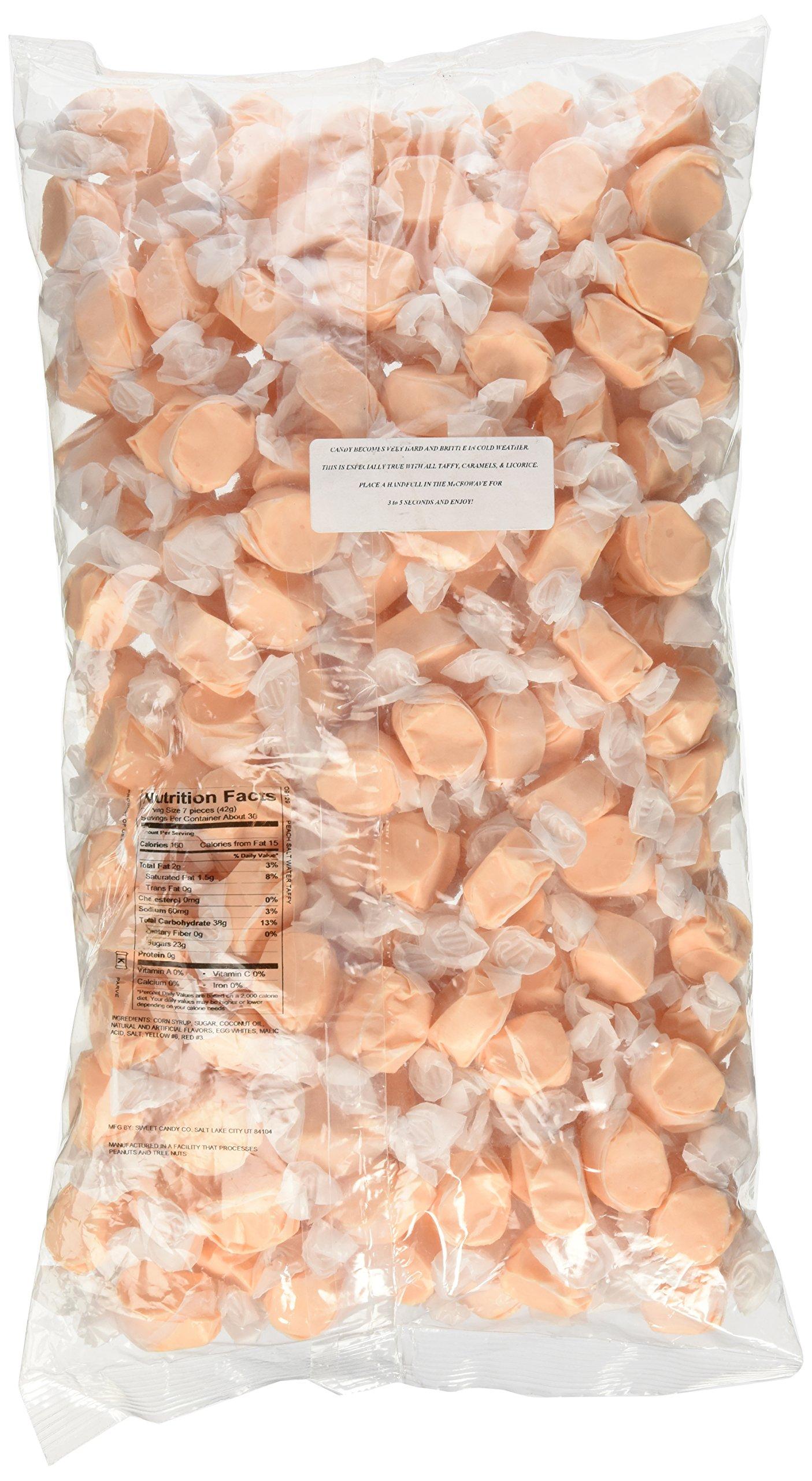 Sweet's Peach Salt Water Taffy 3 Pound