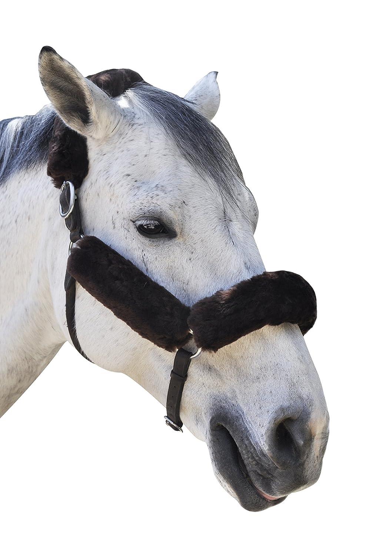 ECPメリノシープスキンホルターフリースSet for Horse保護とレリーフ、4ピース  ブラウン B071J55DQV