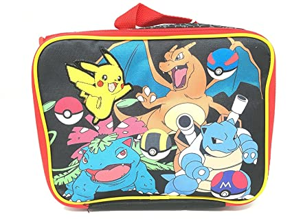 c8f164e8e87f Image Unavailable. Image not available for. Color  New Arrive 2017 Pokemon  Pikachu Black   Red School Lunch Bag