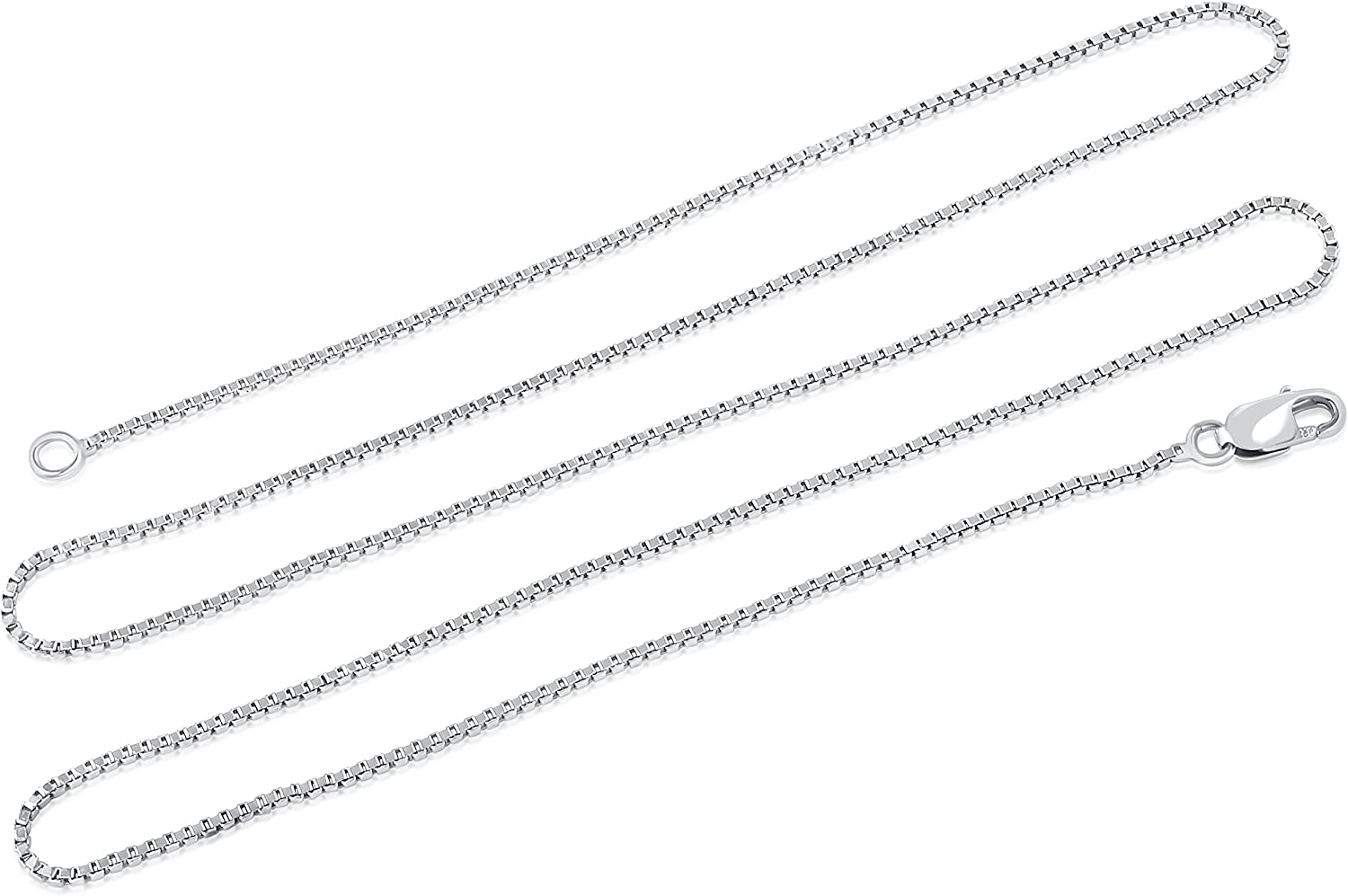 11//16 inch wide Sterling Silver Cable Necklace in Rose Gold /& Rhodium Finishes /& Round Ceramic