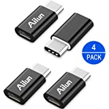 USB C Adapter,Type C Adapter,[4Pack]by Ailun,Convert Micro USB to USB-C,Data Syncing and Charging,for Galaxy S9/S9+ ,MacBook,ChromeBook Pixel,Nexus 5X,Nexus 6P,One Plus 2&all Type C cable Supported Device[Black]