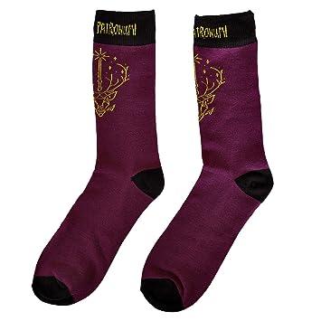 NJ SCREENPRINTS Calcetines para Hombres Harry Potter Expecto Patronum 41-45 Purple Black