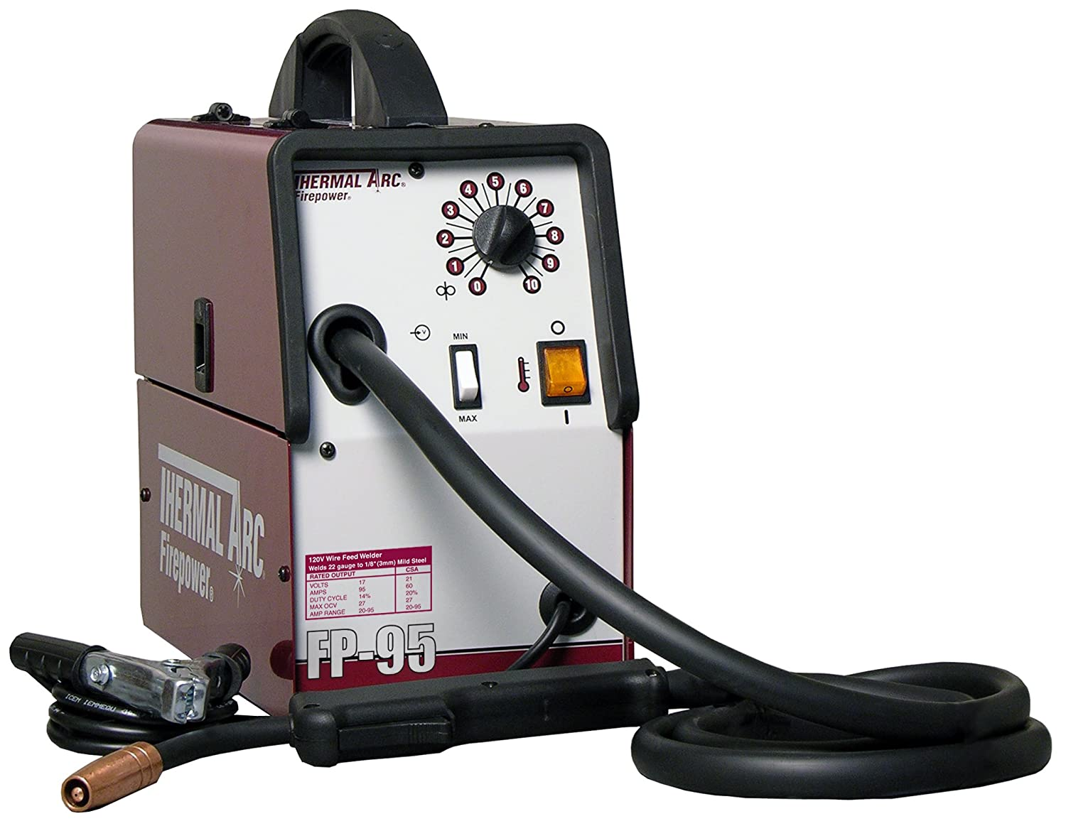 Thermadyne 1444-0322 90 Amp Flux Cored Welding System: Welding Wire ...