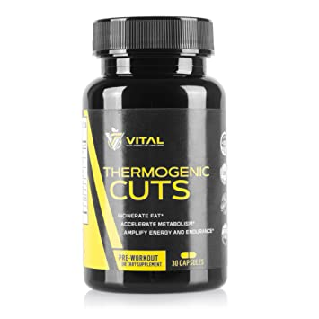 Vital Thermogenic Cuts Weight Loss Supplement Burn Lose Belly Fat With Natural Herbal Fat