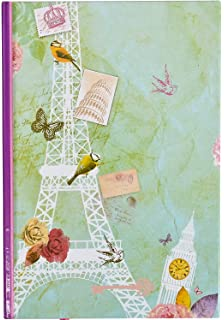 WOW A4 Cherry Blossom Notebook 160 Pages Green or Red