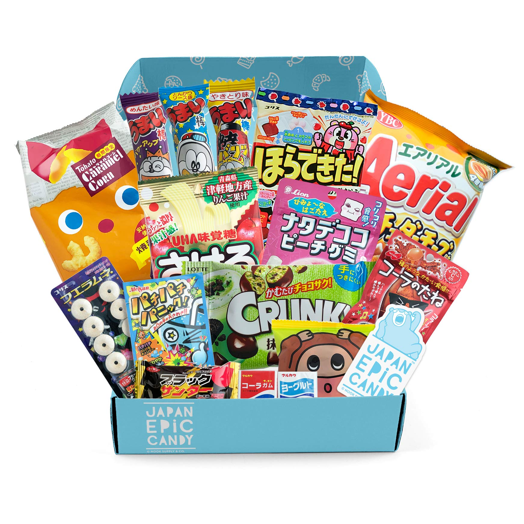 Japanese Candy Assortment - Premium Selection of Candy and Snacks Imported from Japan - DIY, Gummy, Sours, Sweets, Crackers - ''Japan Epic Candy'' (Original)