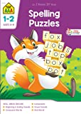 School Zone - Spelling Puzzles Workbook - 64 Pages, Ages 6 to 8, 1st Grade, 2nd Grade, Word-Picture Recognition, Compound Words, Vowel Sounds, and More (School Zone I Know It!® Workbook Series)