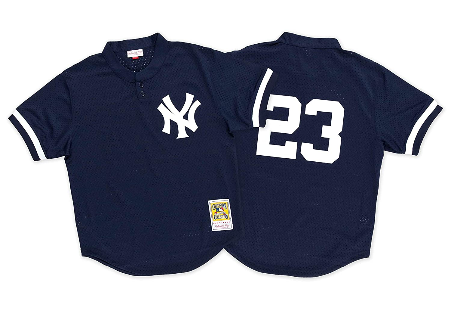 hot sales 96bbd 3764d Mitchell & Ness Don Mattingly 1995 Authentic Mesh BP Jersey New York Yankees
