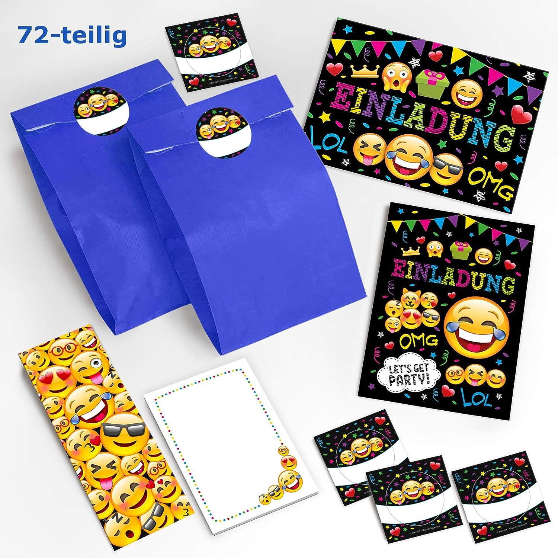 JuNa-Experten 12 Einladungskarten Kindergeburtstag Mädchen Jungen Jungs Geburtstagseinladungen Einladungen Geburtstag Kinder Kartenset (12 Karten)