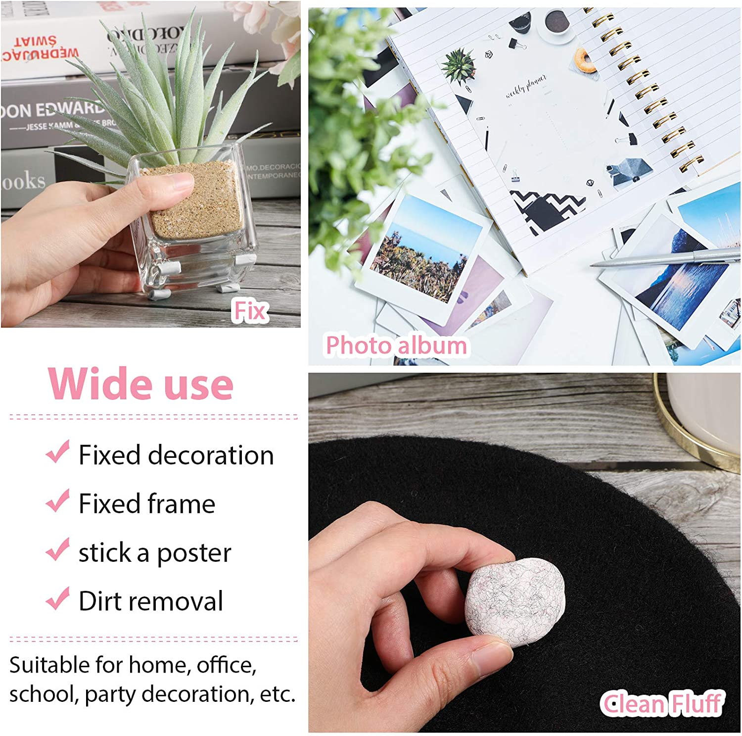 510 Pieces Removable Adhesive Tacky Safe Sticky Wall Tack Putty ...