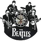 ビートルズファンのためのヴィンテージビニールレコードの壁掛け時計ギフト
