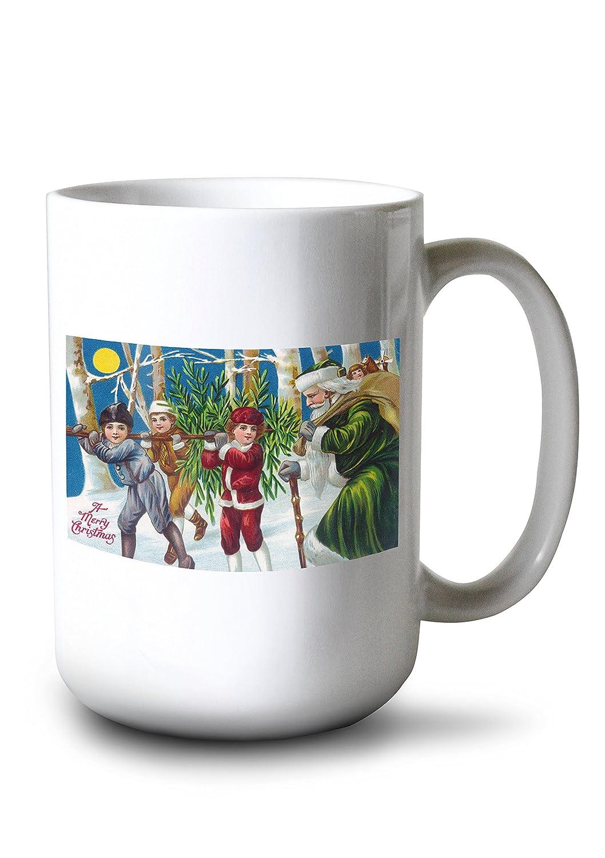 【送料無料/即納】  A Print MerryクリスマスキッズCarryingクリスマスツリー 9 x 12 Art 9 Print LANT-10930-9x12 B077RWB17D 15oz 15oz Mug 15oz Mug, 贅沢:22b63854 --- mail.consumer1st.in