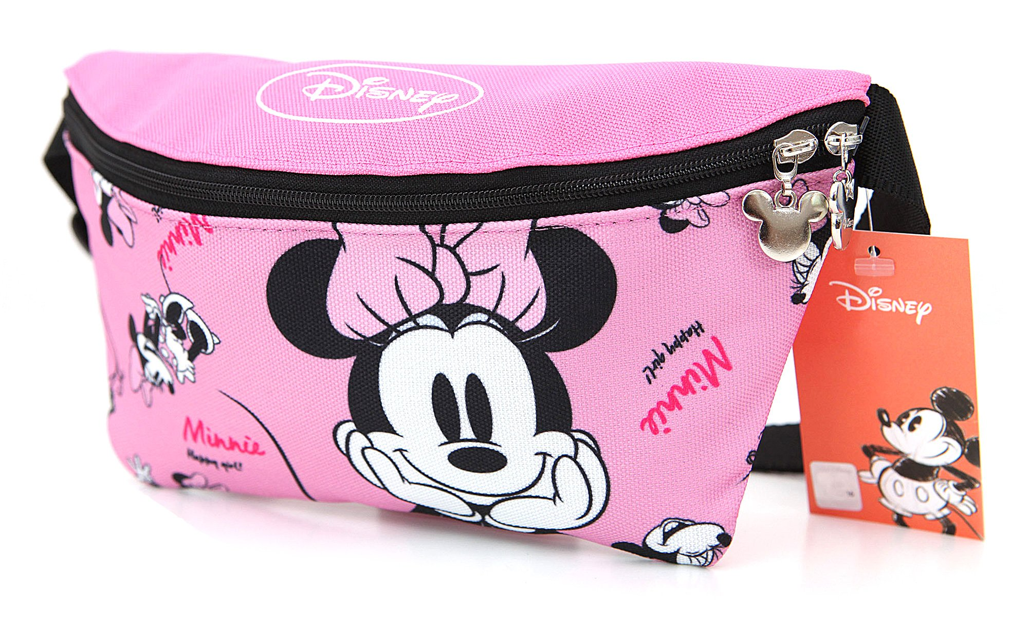 Amazon Com Disney Minnie Mouse Zippered Waist Pack Belly Bag Beauty