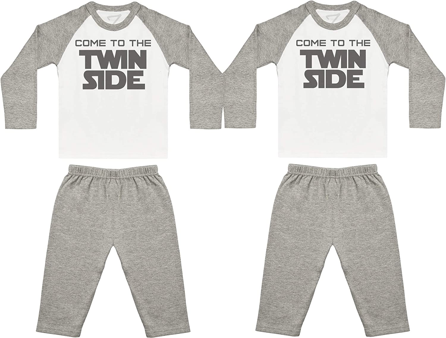 Baby Twins Nightwear Zarlivia Clothing Come to The Twin Side Baby Twin Pyjamas Baby Twins Gift