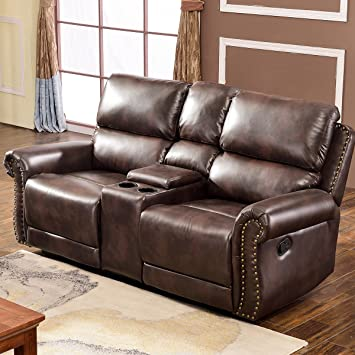 Harper&Bright Designs Living Room Sectional Sofa Recliner Set Accent Chair  Reclining Couch Chaise Lounge(Loveseat)