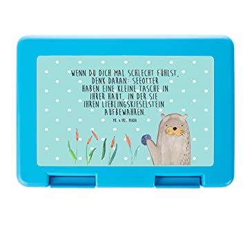 /& Mrs Mr Panda Brotbox Brotdose Pinguin marschierend mit Spruch Farbe Wei/ß Lunch Box