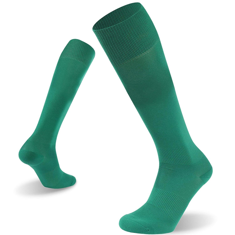 Soccer Socks Atrest Unisex Adults Youths Solid Long Tube Team Football Uniform Socks