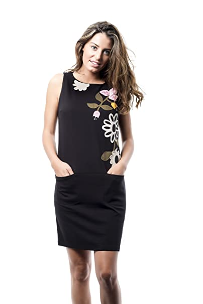 Mamatayoe La Garoupe, Vestido Casual para Mujer, Negro (Black), Small (