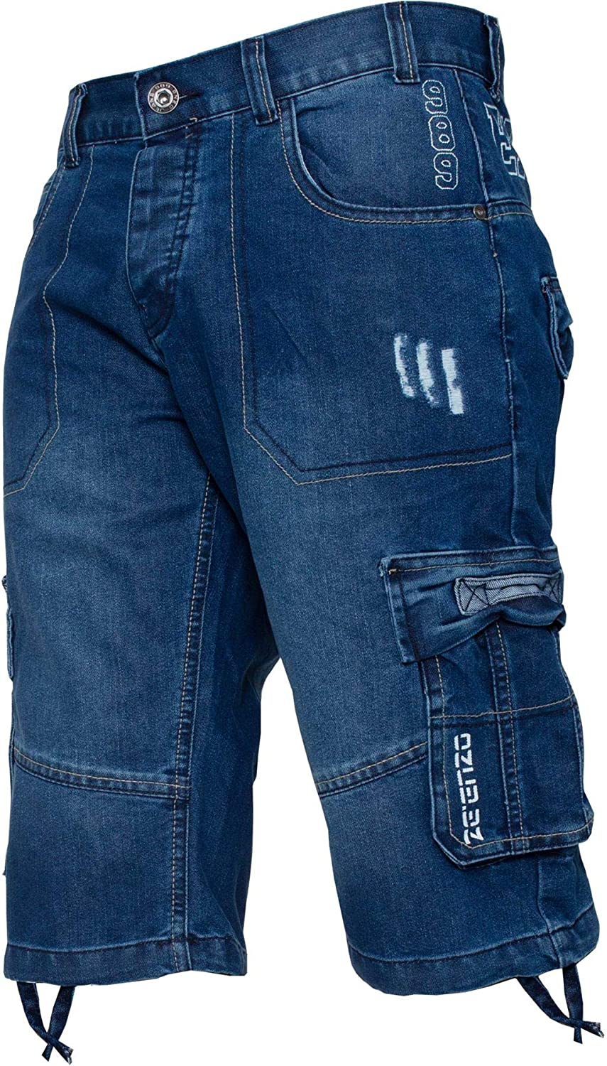 Enzo Jeans Men's Classic Relaxed Fit Cargo Short