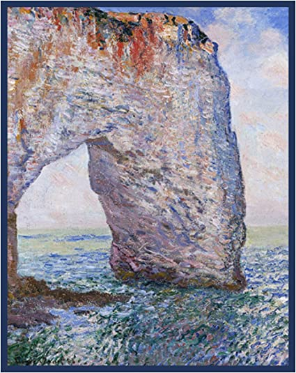 Impressionist Artist Monet Sunrise at Sea Counted Cross Stitch Pattern