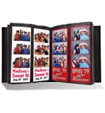"""Photo Booth Album for 2""""x6"""" Photo Strip Pics - Holds 200 Photo Booth Pictures on 100 Pages - Slide-in Photo Booth Photo…"""