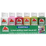 Apple Barrel 12 Essential Colors Matte Finish Craft Acrylic Paint