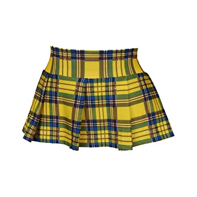 Yellow Plaid Skirt at Amazon Women's Clothing store: