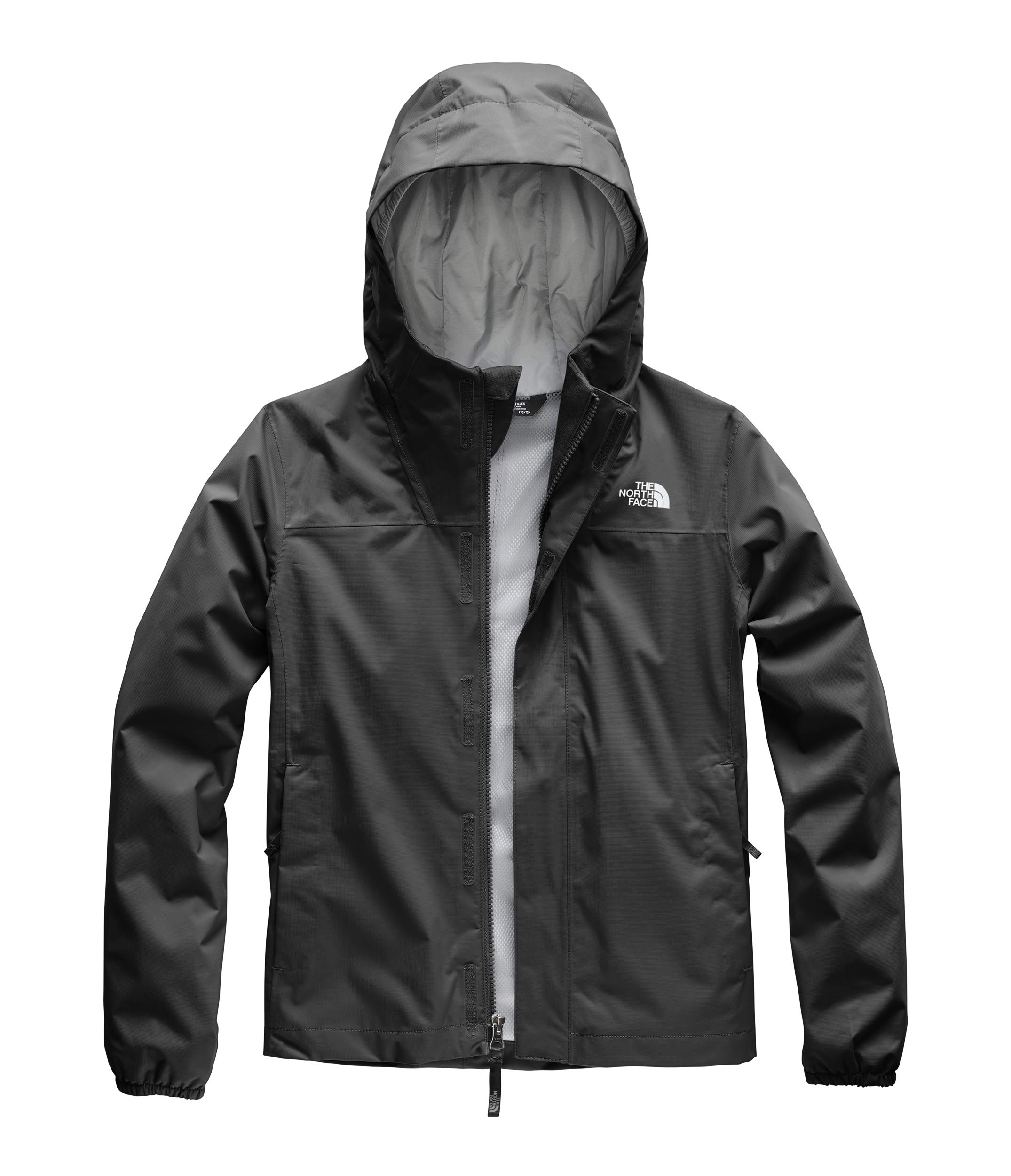 The North Face Girls' Resolve Reflective Jacket, TNF Black, S