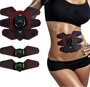 Muscle Toner, Abdominal Toning Belt EMS ABS Toner Body Muscle Trainer Wireless Portable Unisex Fitness Training Gear for Abdomen/Arm/Leg Training Home Office Exercise Equipment